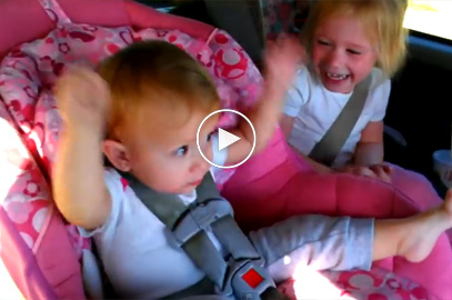This adorable little girl  peacefully sleeping…until her favorite song comes on!
